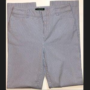 Ralph Lauren Seersucker Straight Leg Pants